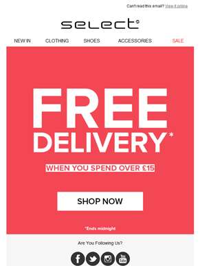 Stop, Drop and Shop! Free delivery over £15!