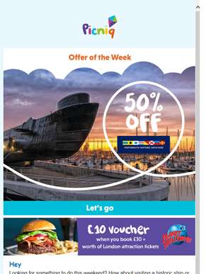 ?? 50% off Portsmouth Historic Dockyard, 20% off Longleat and more!