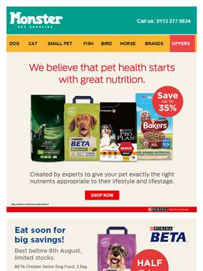 Every day low prices from Purina Pet Care