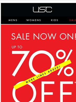 Up to 70% OFF BIG brands! Shop DKNY, Converse. G-Star + more....