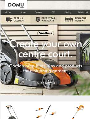 Make your garden Wimbledon worthy.