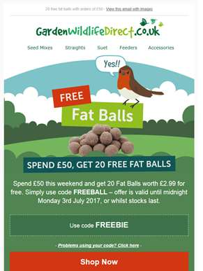 FREE - 20 fat balls with orders over £50 - this weekend only!
