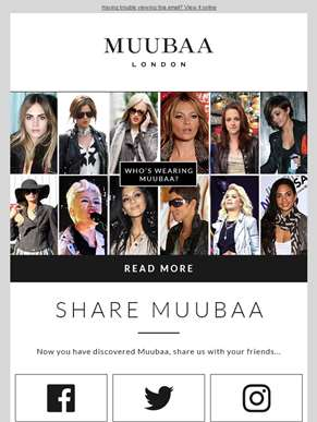 Share Muubaa! Now you have discovered Muubaa, share us with your friends...