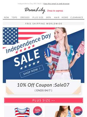 Independence Day Celebrations, Coupon HERE!