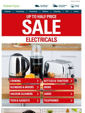 Summer sale: Up to 50% off electricals