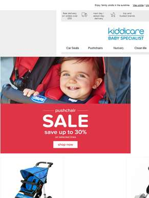Up to 30% off selected pushchairs!