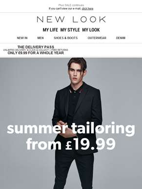 Tailoring from £19.99