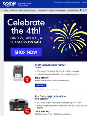 ??Let the Fireworks begin for July 4th Savings on Printers, Labelers, and More!??