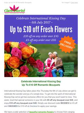 Get £10 Off Beautiful Fresh Flowers