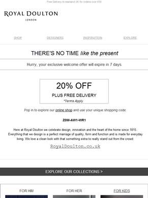 Hurry, your exclusive 20% OFF ends soon...