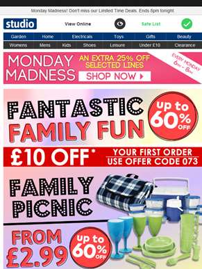 Fantastic Family Fun | Up to 60% Off | Shop Now >