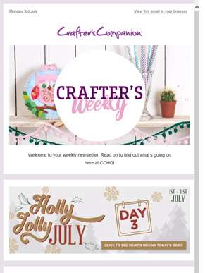 Weekly update - Holly Jolly July, special offers and much more!
