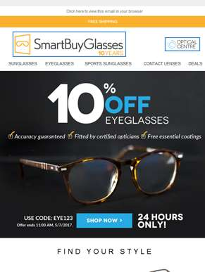 It's as easy as 1.2.3 | Order Glasses on SmartBuyGlasses | Your 10% OFF voucher ??