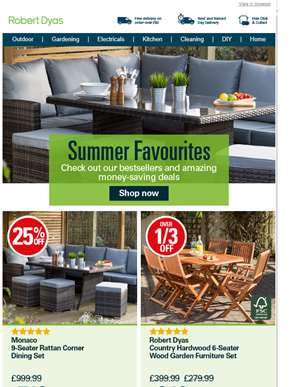 Huge savings on outdoor bestsellers