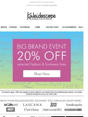 20% Off Our Big Brand Event!