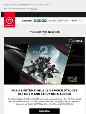 Feedin, Get Destiny 2 with NVIDIA GeForce GTX 1080 and 1080Ti Graphics for a Limited Time