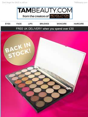 Your favourite palettes are back in stock!