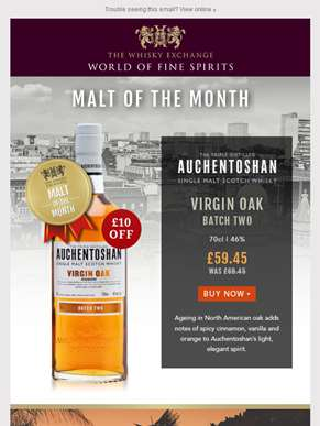 Malt of the Month – Auchentoshan Virgin Oak Batch Two