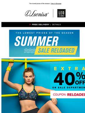 Extra 40% OFF > Summer Sale Reloaded