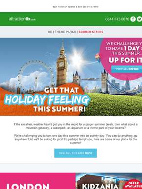 Summer feeling! ???????? Theme Parks from £5 | Blackpool Resort Pass 40% Off | Ripley's Kids For £1