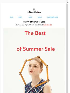 Top 10 of Summer Sale