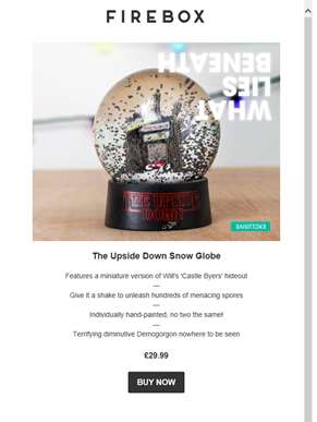 New & Exclusive: The Upside Down Snow Globe