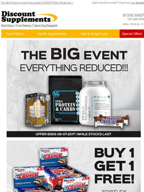 Everything REDUCED + Diet Whey Protein Special