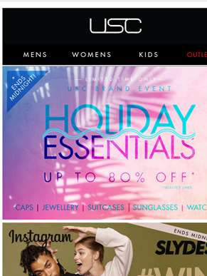 Up to 70% OFF holiday essentials 'til Midnight!!