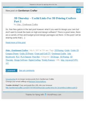 [New post] 3D Thursday – Useful Links For 3D Printing Crafters Part 2