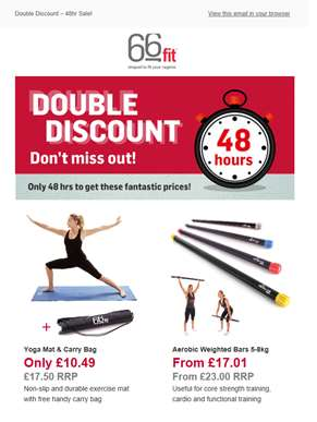 Double Discount – 48 Hours Only!