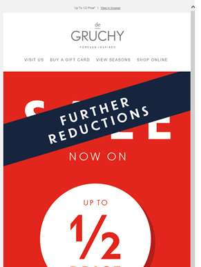 Further Reductions Now On