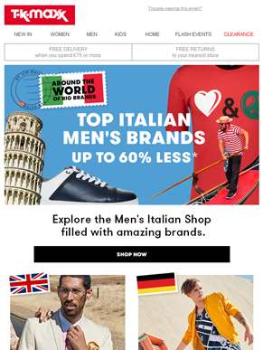 Men's Italian finds for much less?