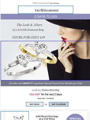 Heart Ring – Yours for Only £49 – 2 Days left!