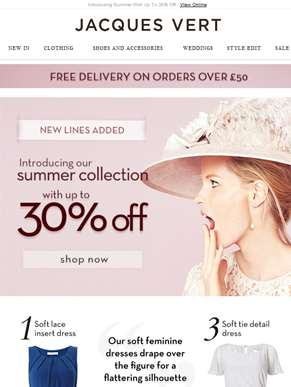 Introducing Summer With Up To 30% Off