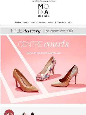 Centre courts - sale shoes fit for the Royal Box!