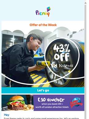 ?? 43% off KidZania, Camp Bestival on sale and more!