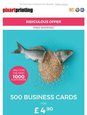 Unbelievable: 500 Business Cards for just £4.90