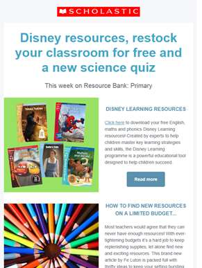 Free Disney resources available on the Primary Resource Bank!