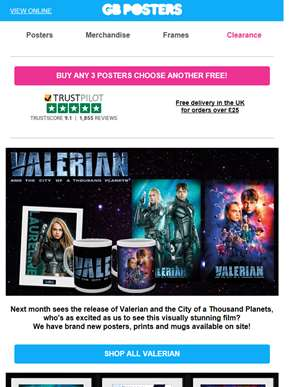 New in store: Valerian, Despicable Me 3, Assassins Creed and more!