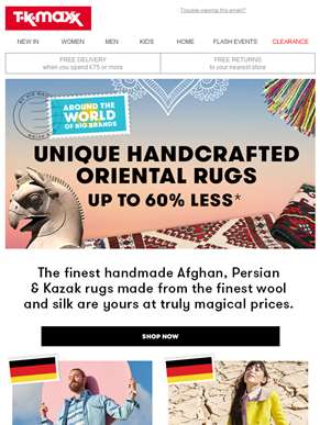 Handcrafted Oriental rugs, magical prices