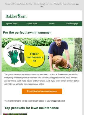 Look after your lawn | Free maintenance kit