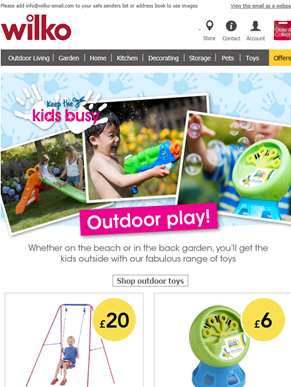 It's child's play with our outdoor toys!