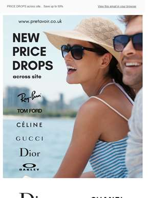 Sunglasses Price Drops across site ... DIOR ...CÉLINE ... TOM FORD