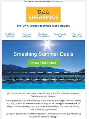 ?? Smashing Summer Deals from just £129pp... ??