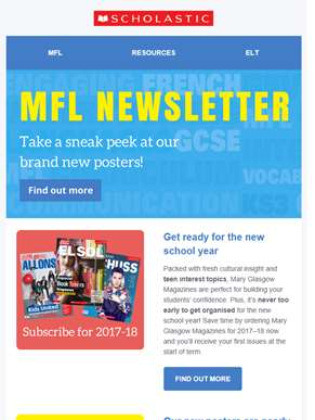 Take a sneak peek at our brand new posters! - MFL Newsletter