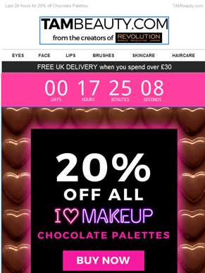 Last chance to indulge in 20% off