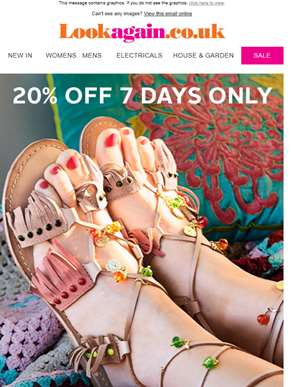 20% Off NEW Shoes