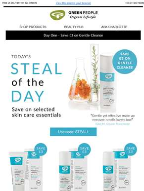 Steal of the day | Save on skin care essentials