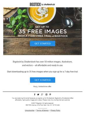 Special offer: Get 35 free images from Bigstock