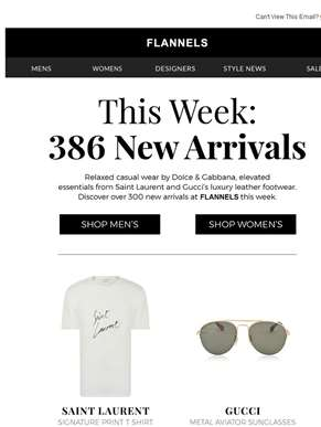 386 New Arrivals This Week!